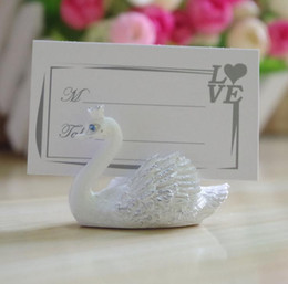 photo place card holders UK - Resin Swan Place Card Holders Wedding Restaurants Cafes Table Photo Memo Number Name Clip For Wedding Event Party Decoration SN1057