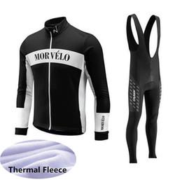 $enCountryForm.capitalKeyWord UK - Morvelo team Cycling long Sleeves jersey bib pants sets Winter Thermal Fleece suit Mens Cycling Clothing outdoor sportswear Q62940