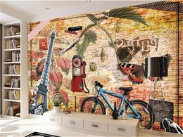 $enCountryForm.capitalKeyWord Australia - custom size 3d photo wallpaper livingroom bed room mural brick wall bicycle study picture sofa TV backdrop wallpaper mural non-woven sticker