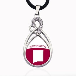 Wholesale New Mexico Outline Circle Charm Necklace for crystal stars Pendant Chain Necklaces chokers Fashion Jewelry