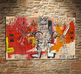 Digital frame leD online shopping - Jean Michelle Basquiat Lead Pieces Canvas Prints Wall Art Oil Painting Home Decor Unframed Framed X30
