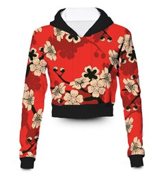 sublimation printing clothing Australia - Any color Any Printing Custom made Japanese Garden 3D Sublimation Printing crop hoody hoodie Plus Size Clothing