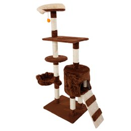 "Coffee Housing Australia - 53"" Cat Tree Tower Condo Furniture Scratching Play House Coffee Cat Supplies"