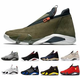 light up shots Australia - Green Light Graphite 14s DMP 14 Mens basketball shoes XVI Reverse DMP University Red Last shot Jumpman Z Varsity Royal men sports sneakers