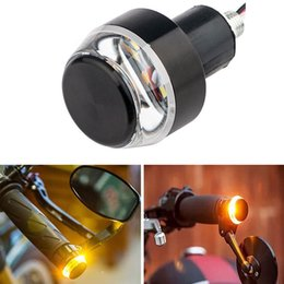Side marker lightS online shopping - Motorcycle Handlebar End Turn Signal Light Yellow Universal mm Indicator Flasher Handle Bar Blinker Side Marker Lamp Rated based on