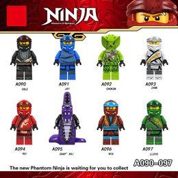 Building Figures Australia - A090-097 Ninja Heroes Figures Kai Jay Cole Zane Nya Lloyd Snake With Weapons Building Blocks Figures Toys