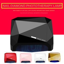 $enCountryForm.capitalKeyWord Australia - New 36W Nail Dryer Diamond Shaped LED UV Lamp & CCFL Dual Light Source Curing All Gels Smart Sensor Phototherapy Machine
