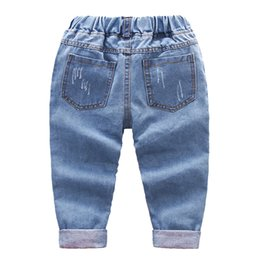 boys slim denim jacket Canada - IENENS 2-7Y Fashion Boys Casual Jeans Trousers Baby Toddler Boy's Denim Pants Kids Children Slim Long Pants Bottoms Clothing