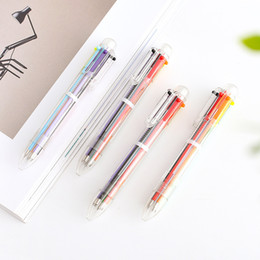 Stationery NZ - 1Pc New 0.5mm Erasable Pen 1 pcs Refills Colorful 6 Color Creative Drawing Tools Student Writing Tools Office Stationery