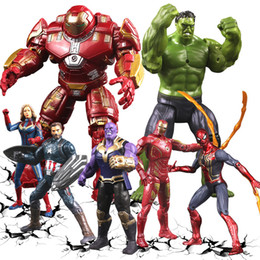 movable doll joints 2019 - New Avengers 4 Action Figures Captains Dolls Sound with Light and Joint movable Cartoon superhero Figures toys L120 disc