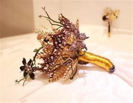$enCountryForm.capitalKeyWord UK - Downton Handmade Wedding Bridal Rose Bouquets Gothic Gypsy Gold Rhinestone Luxury Wedding Decors Holding Brooch Bouquet De Mariage Rose