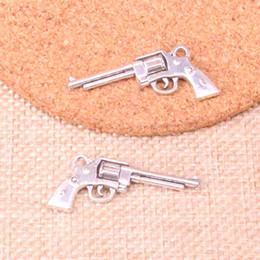 Charm making maChines online shopping - 52pcs Charms machine gun assault rifle Antique Silver Plated Pendants Fit Jewelry Making Findings Accessories mm