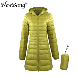 $enCountryForm.capitalKeyWord Australia - NewBang 8XL Ladies Long Warm Down Coat With Portable Storage Bag Women Ultra Light Down Jacket Women's Overcoats Hip-Length T190905