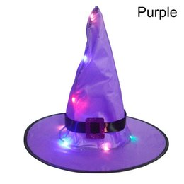 deep hats Australia - Fashion Halloween Decoration Garden Color Beautiful New Year Witch Hat Light Suspension Christmas LED Glowing Hat Tree Festival Christmas De