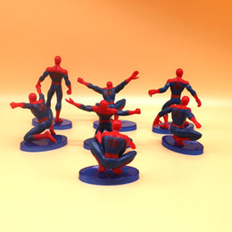 Spider Man Action Figures For Australia - Super Hero Spider Man PVC Plastic Toys 7pcs set Action Figures 7 Spider Man Doll Cute Super Siper Man Doll Hero Dream For Kids Grown