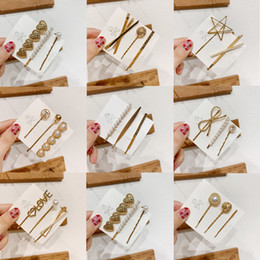 East asian hair accEssoriEs online shopping - 3pcs set Korean Girls Metal Pearl Hair Clip Combination Minimalist Elegant Barrette Pearls Hairpin Hair Styling Tools Accessories