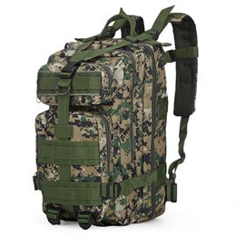 TacTical bag khaki online shopping - 30L P Tactical Backpack Oxford Sport Bag Hunting Assault Camouflage Outdoor Bag For Camping Hunting Hiking Trekking