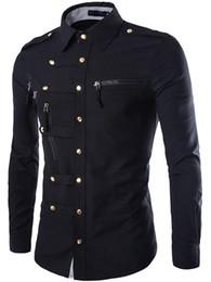 $enCountryForm.capitalKeyWord Australia - Slim Long Sleeve Men Shirt Multi Button shirt 2019 Fashion Lapel Plain Zipper Style Causal Male Daily Clothes