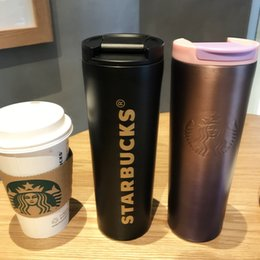 starbucks cup steel Australia - New Classic Starbucks Insulation Cup Vacuum Flask Thermos Stainless Steel Insulated Vacuum Bottle Cup Coffee Cup Travel Drink Bottle
