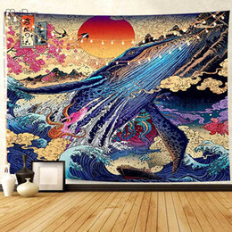 handmade tapestry wall hangings Canada - 2 Sizes Wall Tapestry Modern Style Yoga Mat Blanket Bedspread Home Textile Animals Colorful Printed Wall Hanging Decorative Home