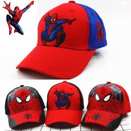 e23f67e64cf Spiderman Kids Hat NZ - Baby Boys Girls Snapback Hats Children Spiderman  Cartoon Baseball Cap Kids