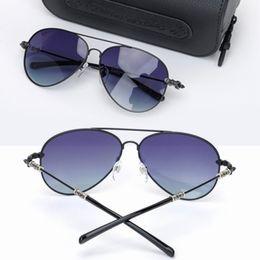 d238d86b7ab Chrome Oversized Sunglasses for Men Fashion Women Polarized Sunglasses Big Frame  Sunglasses Brand Gray Lens Sun Glasses with Original Case