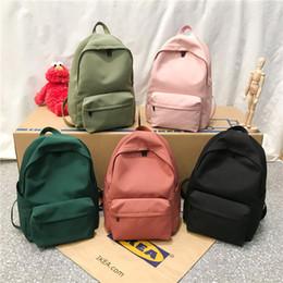 Mochila feMinina bag online shopping - New waterproof nylon women backpack Japan style Solid Backpacks Mochila Feminina Mujer Travel bag Teenage Girls Schoolbag