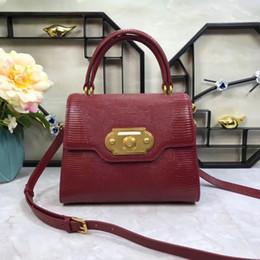 $enCountryForm.capitalKeyWord Australia - New handbag of 2019 cowhide Lizard Print Black multi-color fashionable leather single shoulder slanting lady bag