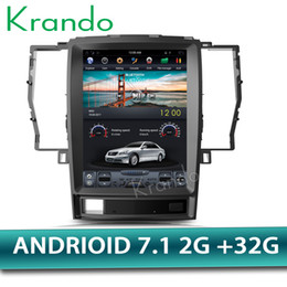 "Multimedia Player For Car Australia - Krando Android 7.1 12.1""Tesla style Vertical screen car DVD multimedia player GPS for Toyota Crown 2008-2012 navigation system BT"