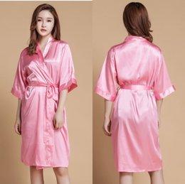 Novia dama de honor regalos satinado kimono túnicas nupcial despedida de soltera partido ropa de dormir ropa suministros 5 unids envío gratis