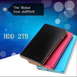"Discount hard disk hot - Hot! New 2019 Hard disk 2000GB hdd 2.5 ""2.0 Portable USB Hard Drive hdd External drives 2TB Free shipping"
