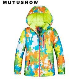 Jacket Waterproof Child UK - MUTUSNOW Ski Jacket Boys Girls Winter Brands High Quality Waterproof Breathable Windproof Super Warm -30 Degrees Snowboard Snow Child Jacket