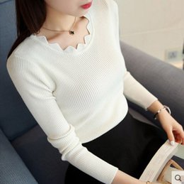 $enCountryForm.capitalKeyWord Canada - Womens Spring Knitted Pullover 2019 Autumn Cashmere Sweater Long Sleeve Women Elastic Sweater Pullovers Slim Ladies Knitted Tops