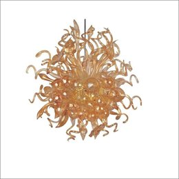 $enCountryForm.capitalKeyWord UK - Hotel Big French Vintage Blown Glass Chandelier Lighting High Ceiling Decorative Hand Blown Glass Crystal Chandelier