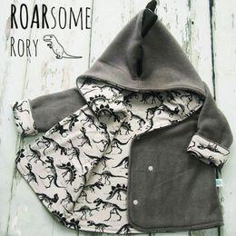 $enCountryForm.capitalKeyWord NZ - Toddler Grey Jacket Coat 3D Dinosaur Kids Baby Girl Boy Fleece Tops T-shirt Jacket & Coat 1-4T Children Spring Autumn Outwear