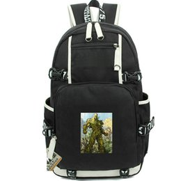 Chinese  Swamp thing rucksack Alec Holland school bag Super hero print daypack Casual computer schoolbag Out door backpack Sport day pack manufacturers