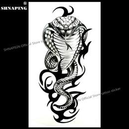 b07b5effa SHNAPIGN Cobra Snake King Temporary Tattoo Body Art Arm Flash Tattoo  Stickers 17*10cm Waterproof Fake Henna Painless Sticker