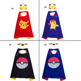 Free Christmas Gifts For Children Australia - Superhero Capes for Kids Satin Cape and Felt Mask Superhero Party Supplies 27in Double Layer Christmas Birthday Party Children Gifts