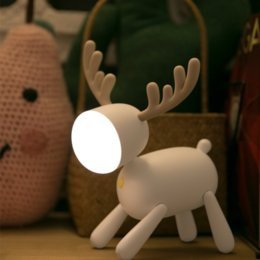 small plug night lamp NZ - Deer led bedside table small night light bedroom bedside baby eye-feeding lamp children's room cute cartoon energy-saving plug-in