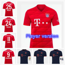 Lewandowski Jersey Australia - 19 20 Bayern Munich champions League soccer Jerseys away black Player version home JAMES ROBBEN LEWANDOWSKI 9 2019 JERSEY FOOTBALL SHIRTS
