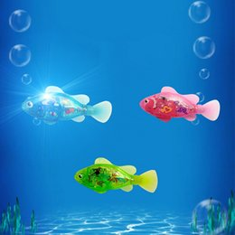 $enCountryForm.capitalKeyWord Australia - Pet Cats Fish Toy Plastic And Electronic Component Glowing Toys Cat Toys Cat Fish Cats Toy Swimming