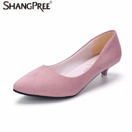 $enCountryForm.capitalKeyWord UK - Designer Dress Shoes SHANGPREE New Women High heels Pointed Toe Pumps Leather Dress High Heels 3cm Boat Wedding Sexy zapatos mujer