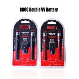 $enCountryForm.capitalKeyWord Australia - BOGO Double Battery Charger Kit 400mAh LO VV Battery Vape Pen Preheat Battery Voltage Adjustable For Thick Oil Cartridge