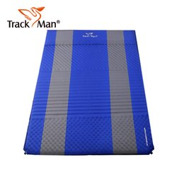 Wholesale Trackman Foldable Outdoor Camping Mat Person Automatic inflatable Sleeping Pad Waterproof hiking travel Mattress