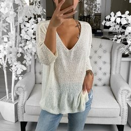 Korean style sweater online shopping - MoneRiff New Autumn Winter Women s Sweaters V Neck Long Sleeve Tops Minimalist Korean Style Knitting Casual Solid
