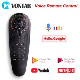 air mouse android ir Canada - Keyboards G30 Voice Remote Control Air Mouse 2.4GHz Wireless Mini Keyboard IR Learning Gyroscope Google Assistant for Android TV Box PC