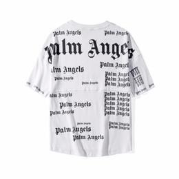 84222aaef7 2019F / W NUEVO TOP Summer Palm Angels Impresión de letras Hombres Mujeres  camiseta suelta Hip Hop Moda ocio algodón camiseta de gran tamaño S-XXL