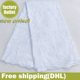 white swiss cotton voile fabric Australia - white nigerian lace fabric high quality lace swiss voile lace african fabric 100% cotton kids dress fabric 5yard lot 5822