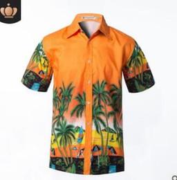 $enCountryForm.capitalKeyWord Canada - Wholesale-Summer Hawaii Beach Man Shirts Short Sleeve Coconut Tree Print Quick Dry Casual Shirts Surfing Water Sports Fashion Men Shirts