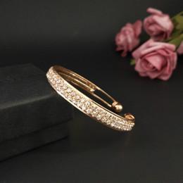 Man Made Diamonds Australia - Bracelet pendant gold silver alloy 2 rows artificial diamond For Women Brand girlfriend boyfriend gift crafts dinner accessories
